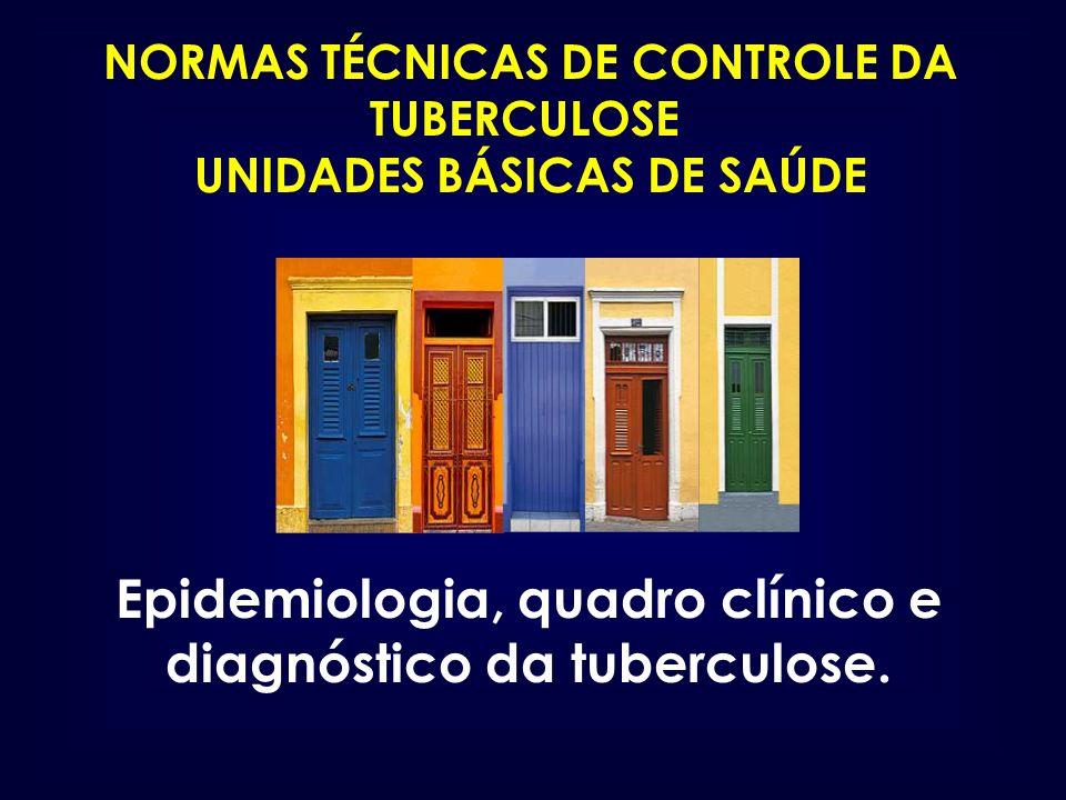 NORMAS TÉCNICAS DE CONTROLE DA TUBERCULOSE UNIDADES BÁSICAS DE SAÚDE Epidemiologia, quadro clínico e diagnóstico da tuberculose.