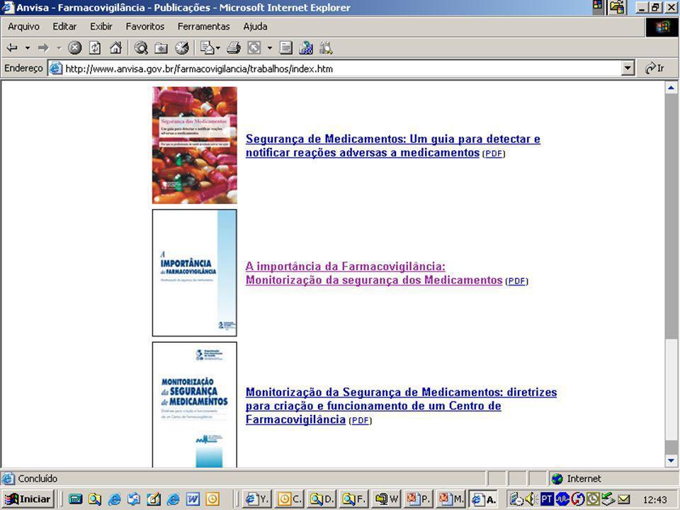 Projeto Farmácias Notificadoras Ministério da Saúde