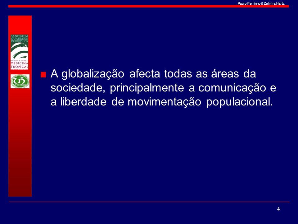 Paulo Ferrinho & Zulmira Hartz A globalização afecta todas as áreas da sociedade, principalmente a comunicação e a liberdade de movimentação populacio