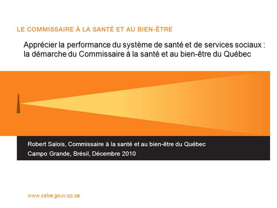 TABLEAU P2 TABLEAU DE BALISAGE INTERPROVINCIAL : PRODUCTION Commissaire à la santé et au bien-être (www.csbe.gouv.qc.ca)