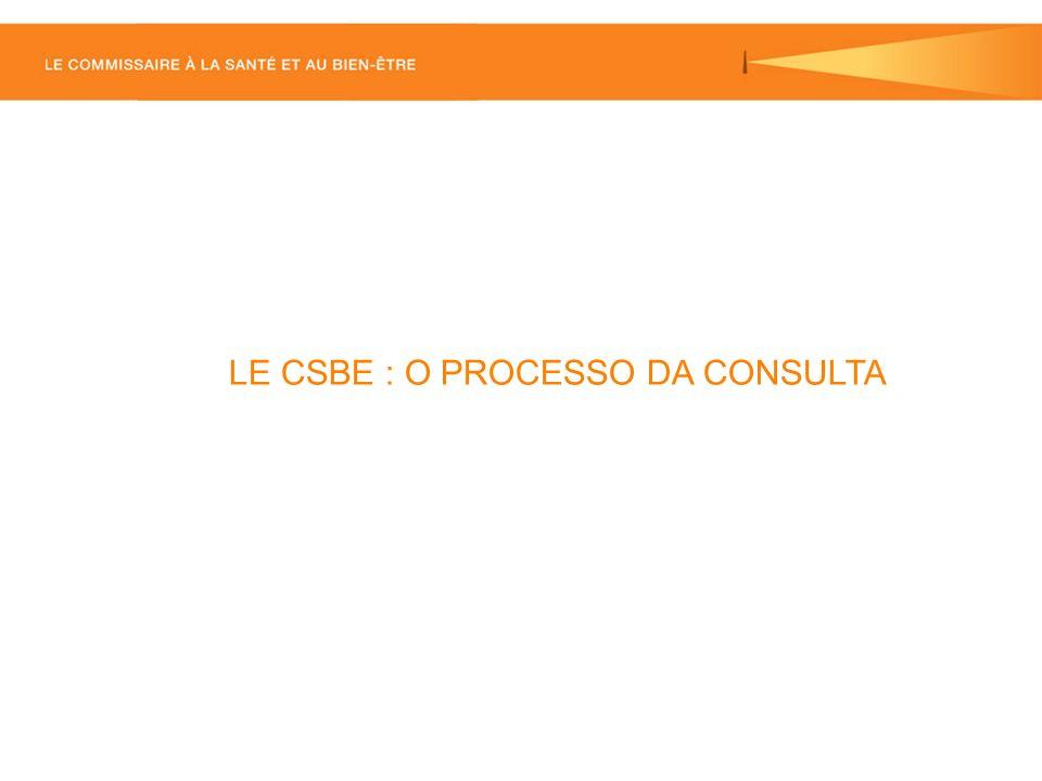 LE CSBE : O PROCESSO DA CONSULTA