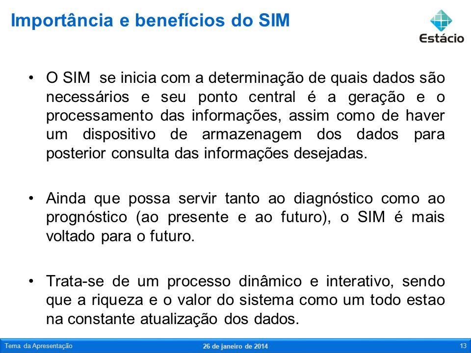 O SIM se inicia com a determinação de quais dados são necessários e seu ponto central é a geração e o processamento das informações, assim como de hav