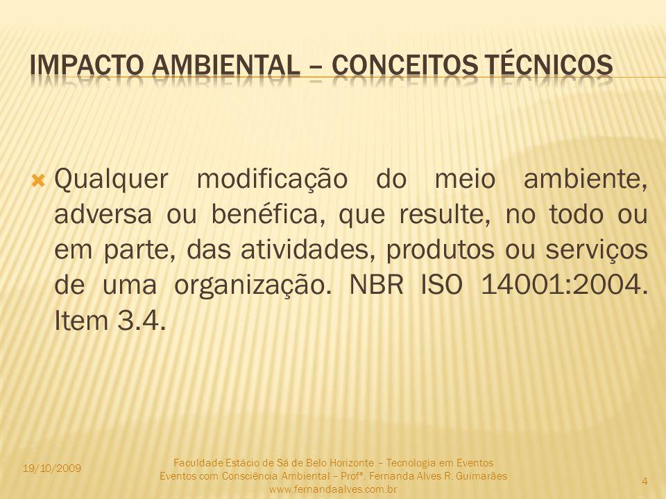 e) Características dinâmicas: Impacto temporário – quando seus efeitos têm duração determinada.