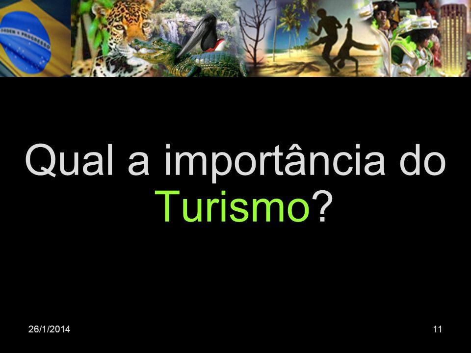 26/1/201411 Qual a importância do Turismo?
