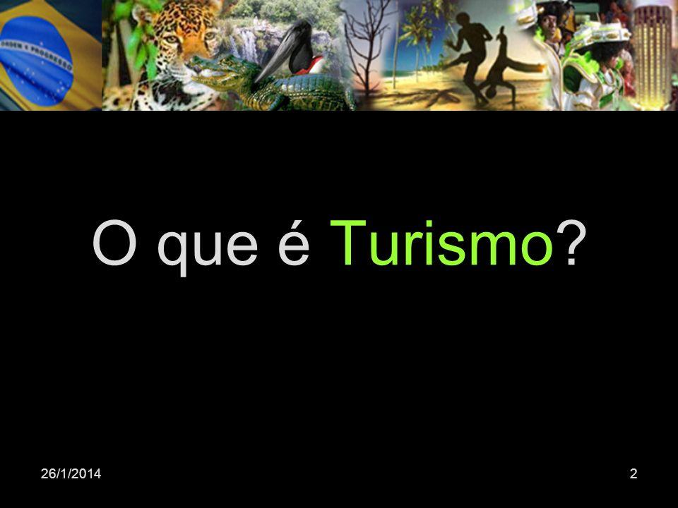 26/1/20142 O que é Turismo?