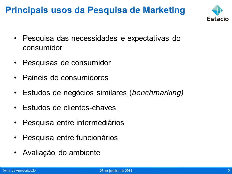 Pesquisa das necessidades e expectativas do consumidor Pesquisas de consumidor Painéis de consumidores Estudos de negócios similares (benchmarking) Es