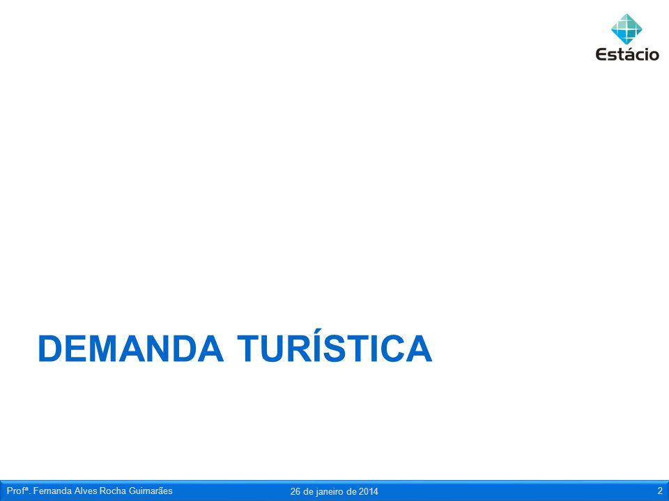 DEMANDA TURÍSTICA 26 de janeiro de 2014 Profª. Fernanda Alves Rocha Guimarães2