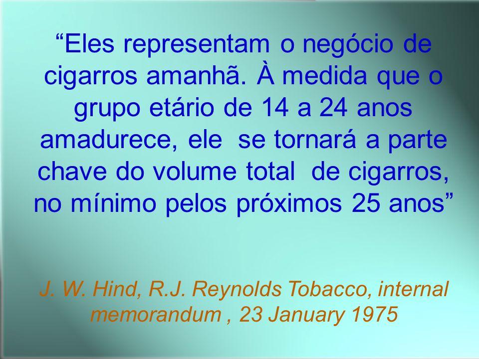 Eles representam o negócio de cigarros amanhã. À medida que o grupo etário de 14 a 24 anos amadurece, ele se tornará a parte chave do volume total de