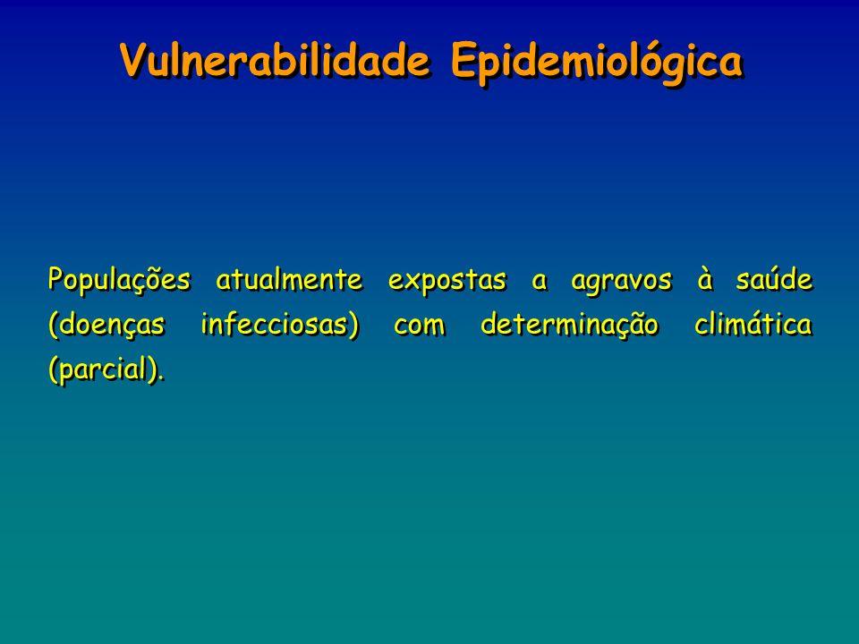 Populações atualmente expostas a agravos à saúde (doenças infecciosas) com determinação climática (parcial). Vulnerabilidade Epidemiológica