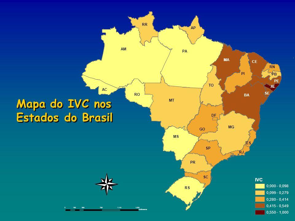 03807601.1401.520190 Quilômetros IVC 0,000 - 0,098 0,099 - 0,279 0,280 - 0,414 0,415 - 0,549 0,550 - 1,000 Mapa do IVC nos Estados do Brasil