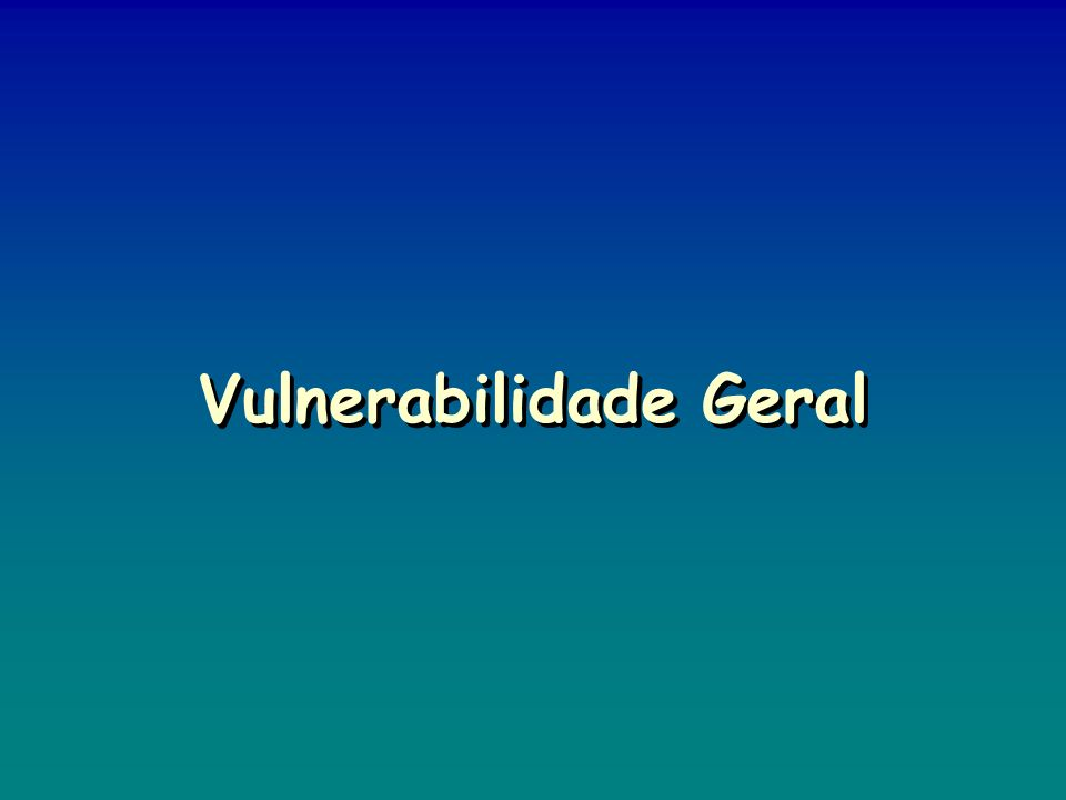 Vulnerabilidade Geral