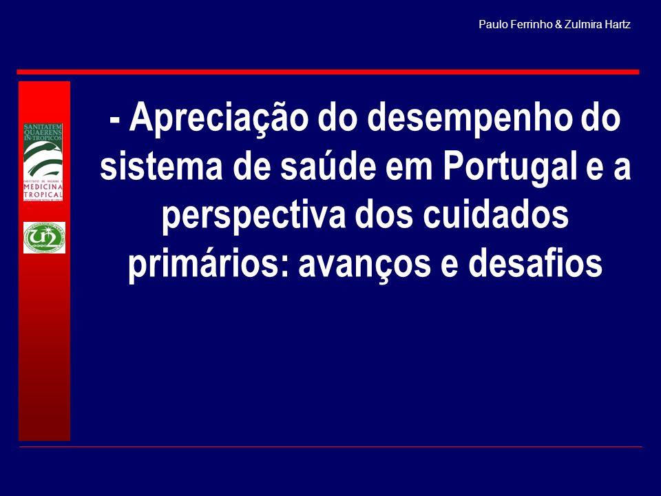Paulo Ferrinho & Zulmira Hartz - Apreciação do desempenho do sistema de saúde em Portugal e a perspectiva dos cuidados primários: avanços e desafios