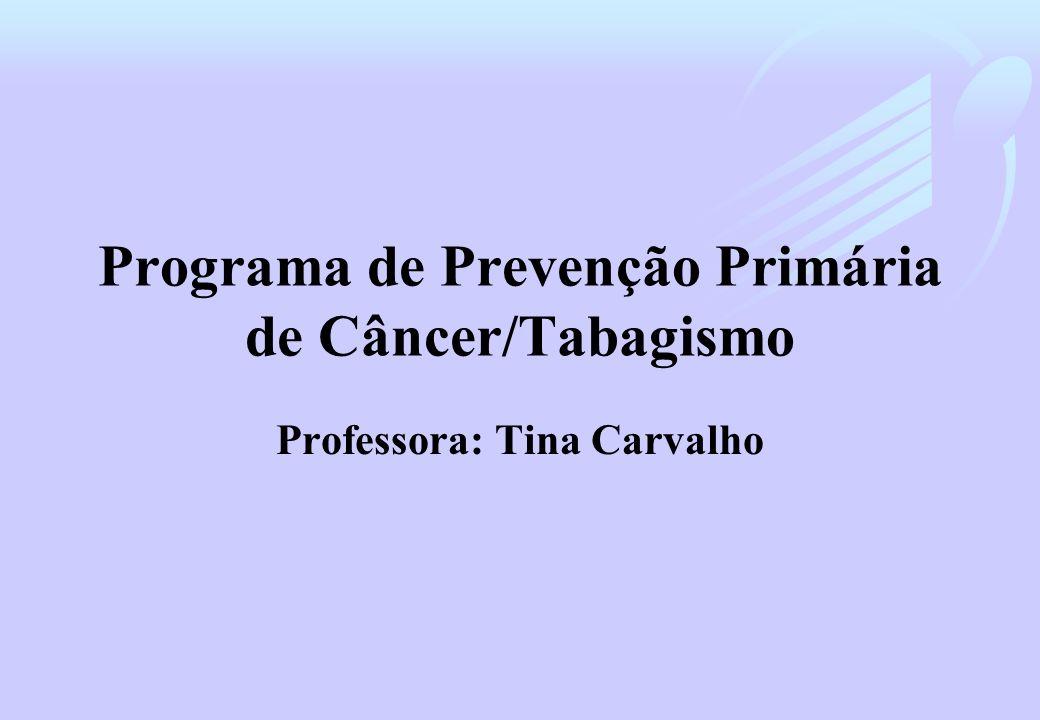 Programa de Prevenção Primária de Câncer/Tabagismo Professora: Tina Carvalho