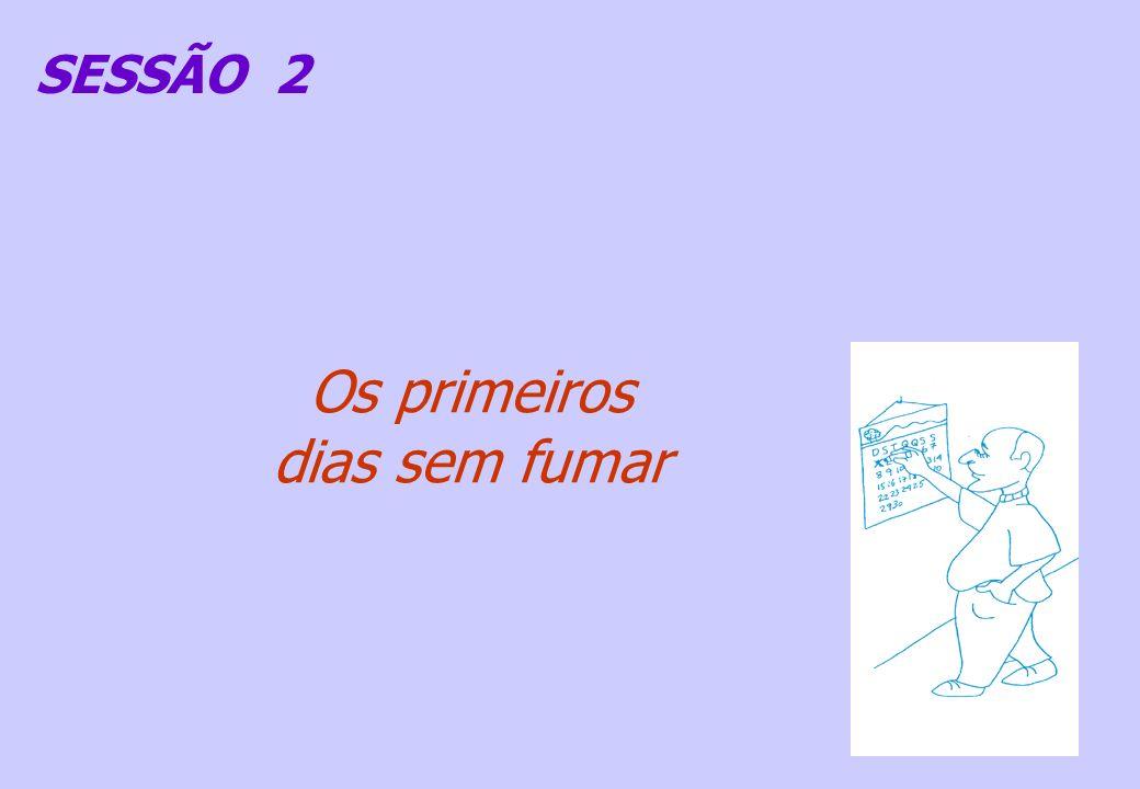 SESSÃO 2 Os primeiros dias sem fumar
