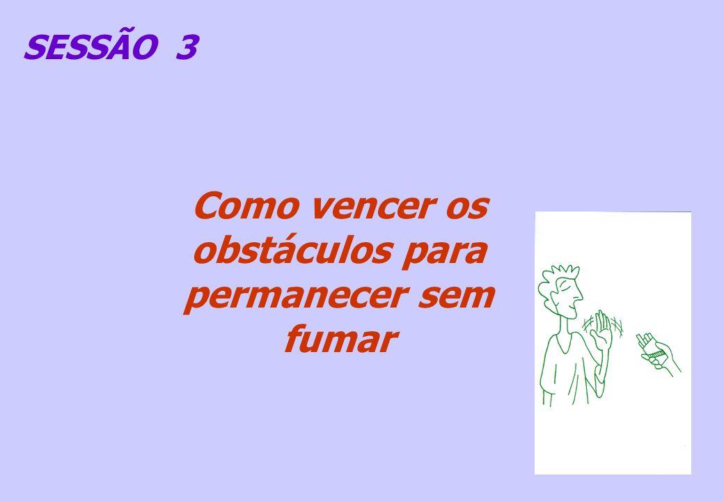 SESSÃO 3 Como vencer os obstáculos para permanecer sem fumar