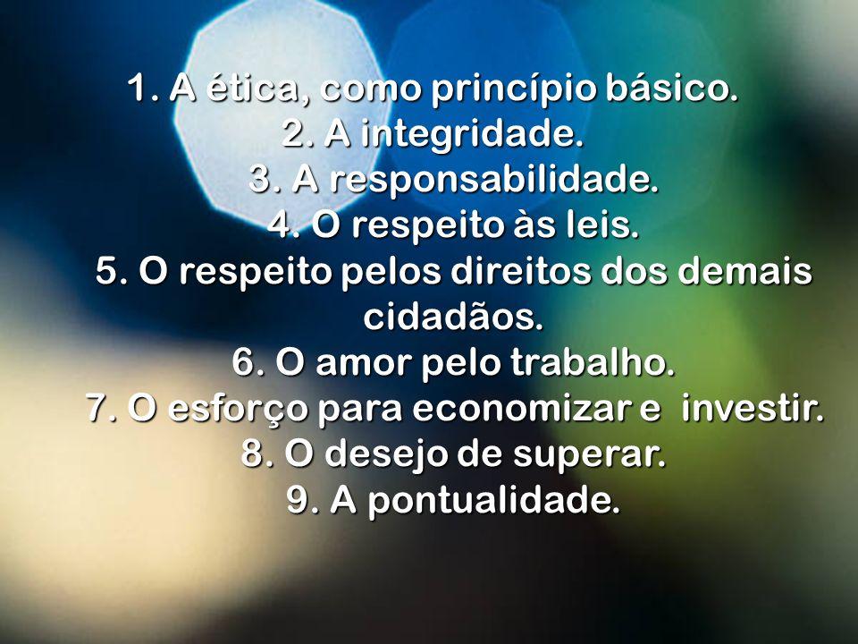 Ao analisar a conduta das pessoas nos países ricos e desenvolvidos, constatamos que a grande maioria segue os seguintes princípios de vida: