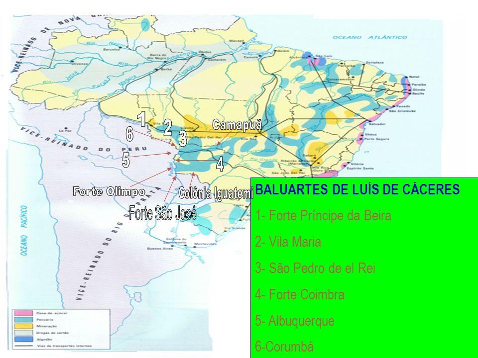 hercules@farnesi.com.br www.hercules.farnesi.com.br BALUARTES DE LUÍS DE CÁCERES 1- Forte Príncipe da Beira 2- Vila Maria 3- São Pedro de el Rei 4- Fo