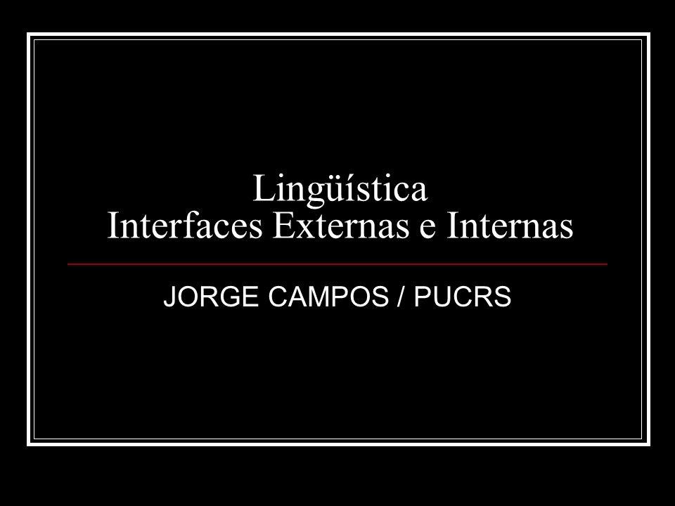 Lingüística Interfaces Externas e Internas JORGE CAMPOS / PUCRS