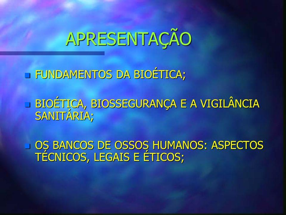 FUNDAMENTOS DA BIOÉTICA