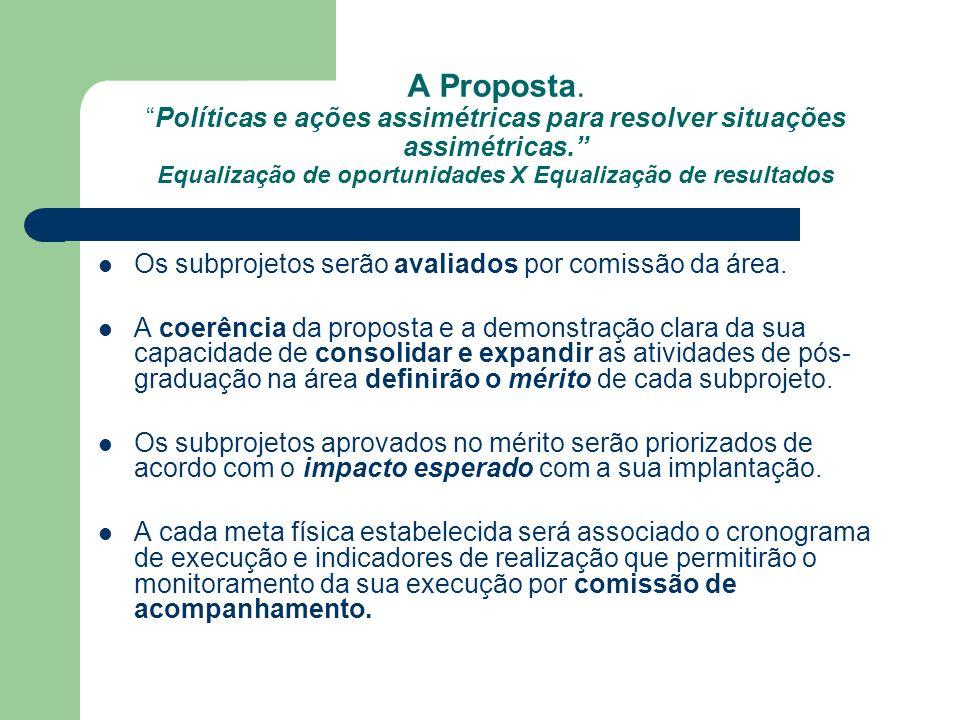 A Proposta.Políticas e ações assimétricas para resolver situações assimétricas.