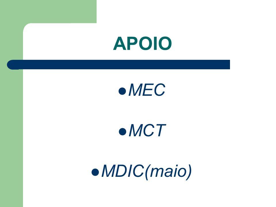 APOIO MEC MCT MDIC(maio)