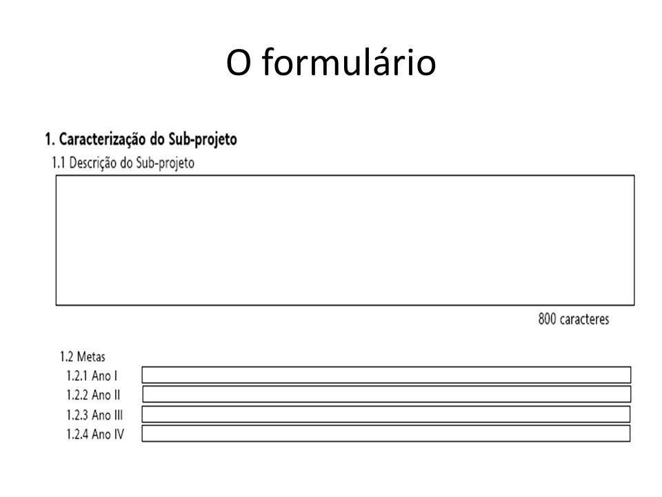 O formulário