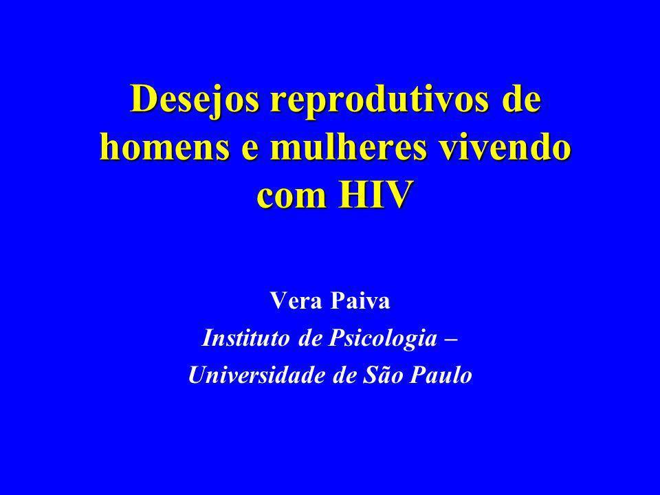 Desejos reprodutivos de homens e mulheres vivendo com HIV Vera Paiva Instituto de Psicologia – Universidade de São Paulo