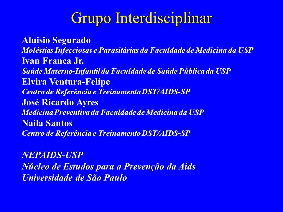 Grupo Interdisciplinar Aluisio Segurado Moléstias Infecciosas e Parasitárias da Faculdade de Medicina da USP Ivan Franca Jr. Saúde Materno-Infantil da