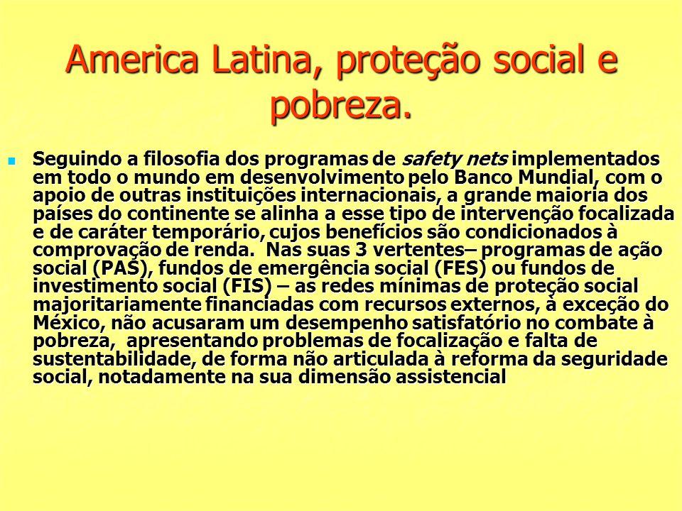 America Latina, proteção social e pobreza. Seguindo a filosofia dos programas de safety nets implementados em todo o mundo em desenvolvimento pelo Ban
