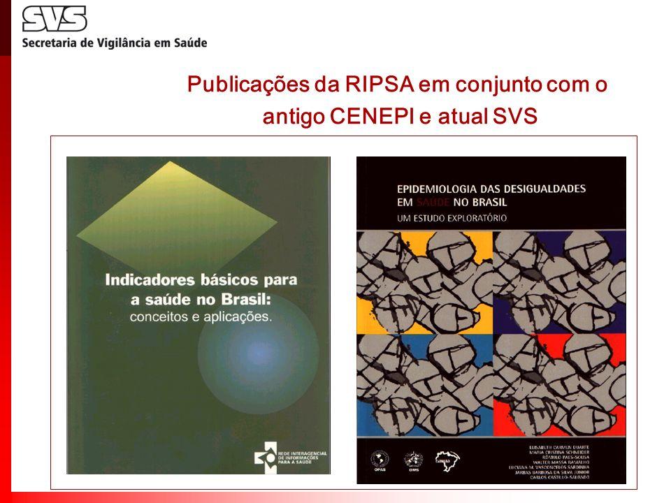 Projetos realizados com a RIPSA para melhoria dos Sistemas de Informações sobre Mortalidade e Nascidos Vivos Mortalidade infantil a)Projeto de estimação da mortalidade infantil pesquisa nos aglomerados homogêneos de municípios com informação deficiente.