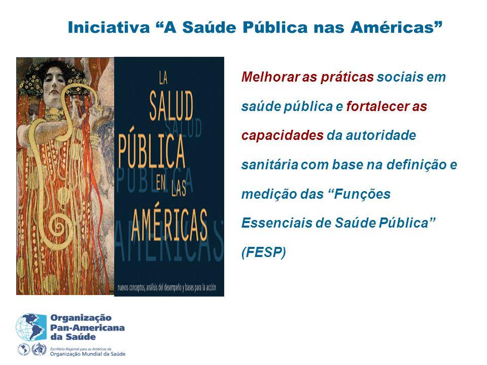 Iniciativa A Saúde Pública nas Américas Melhorar as práticas sociais em saúde pública e fortalecer as capacidades da autoridade sanitária com base na
