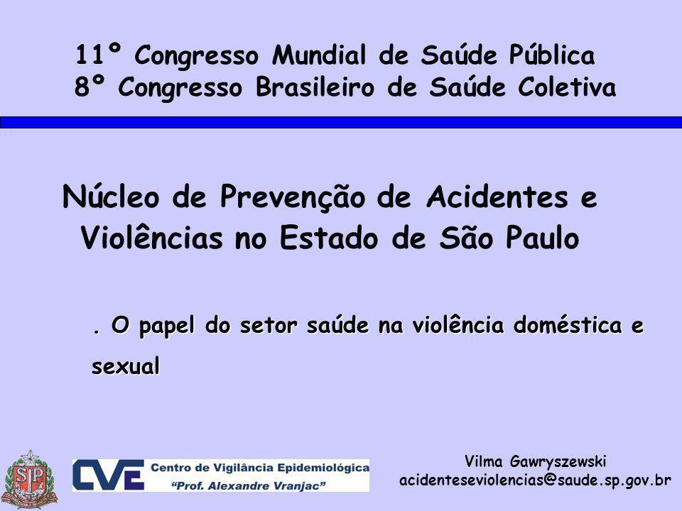 Núcleo de Prevenção de Acidentes e Violências no Estado de São Paulo.