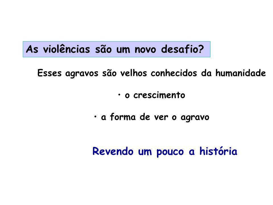 As violências são um novo desafio.