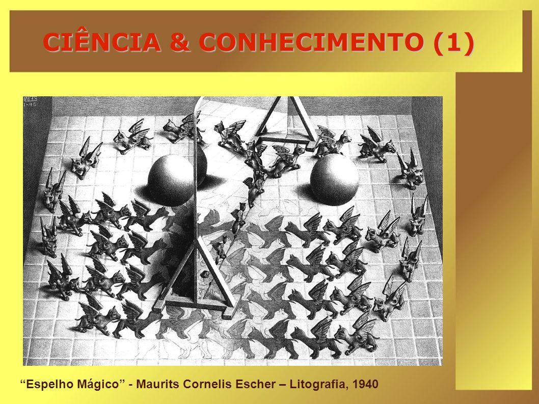 CIÊNCIA & CONHECIMENTO (1) Espelho Mágico - Maurits Cornelis Escher – Litografia, 1940