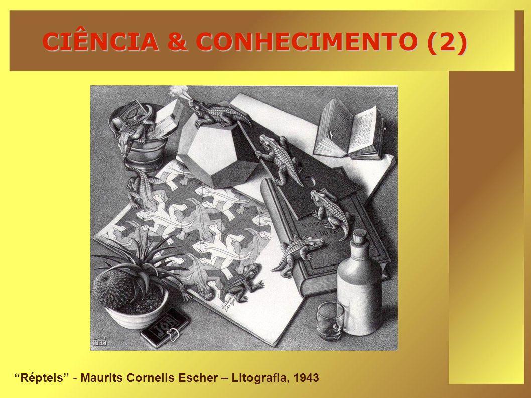 CIÊNCIA & CONHECIMENTO (2) Répteis - Maurits Cornelis Escher – Litografia, 1943