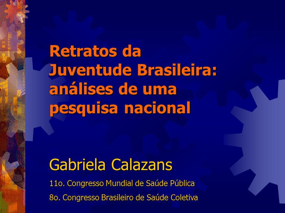 Retratos da Juventude Brasileira: análises de uma pesquisa nacional Gabriela Calazans 11o. Congresso Mundial de Saúde Pública 8o. Congresso Brasileiro