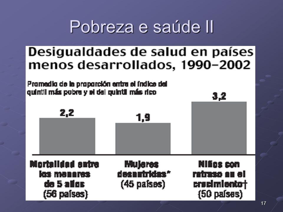 17 Pobreza e saúde II