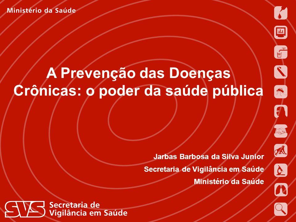 Expedito Luna 16 de novembro de 2004 A Prevenção das Doenças Crônicas: o poder da saúde pública Jarbas Barbosa da Silva Junior Secretaria de Vigilânci