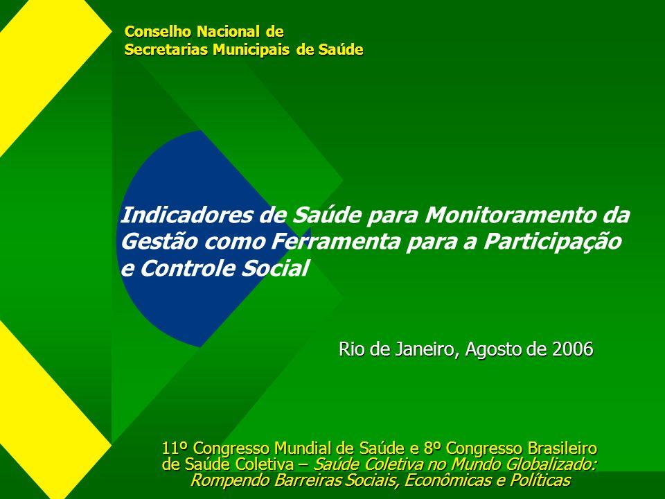 Conselho Nacional de Secretarias Municipais de Saúde 11º Congresso Mundial de Saúde e 8º Congresso Brasileiro de Saúde Coletiva – Saúde Coletiva no Mu