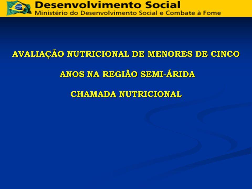 AVALIAÇÃO NUTRICIONAL DE MENORES DE CINCO ANOS NA REGIÃO SEMI-ÁRIDA ANOS NA REGIÃO SEMI-ÁRIDA CHAMADA NUTRICIONAL