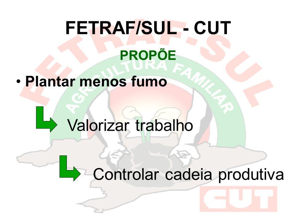 FETRAF/SUL - CUT PROPÕE Plantar menos fumo Valorizar trabalho Controlar cadeia produtiva