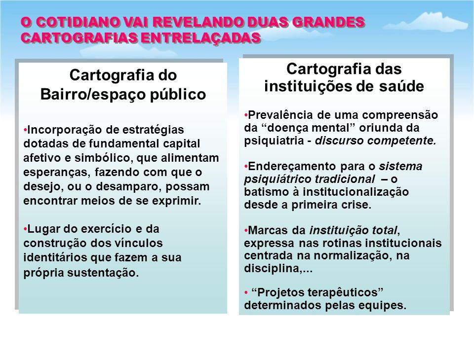 O COTIDIANO VAI REVELANDO DUAS GRANDES CARTOGRAFIAS ENTRELAÇADAS O COTIDIANO VAI REVELANDO DUAS GRANDES CARTOGRAFIAS ENTRELAÇADAS Cartografia do Bairr