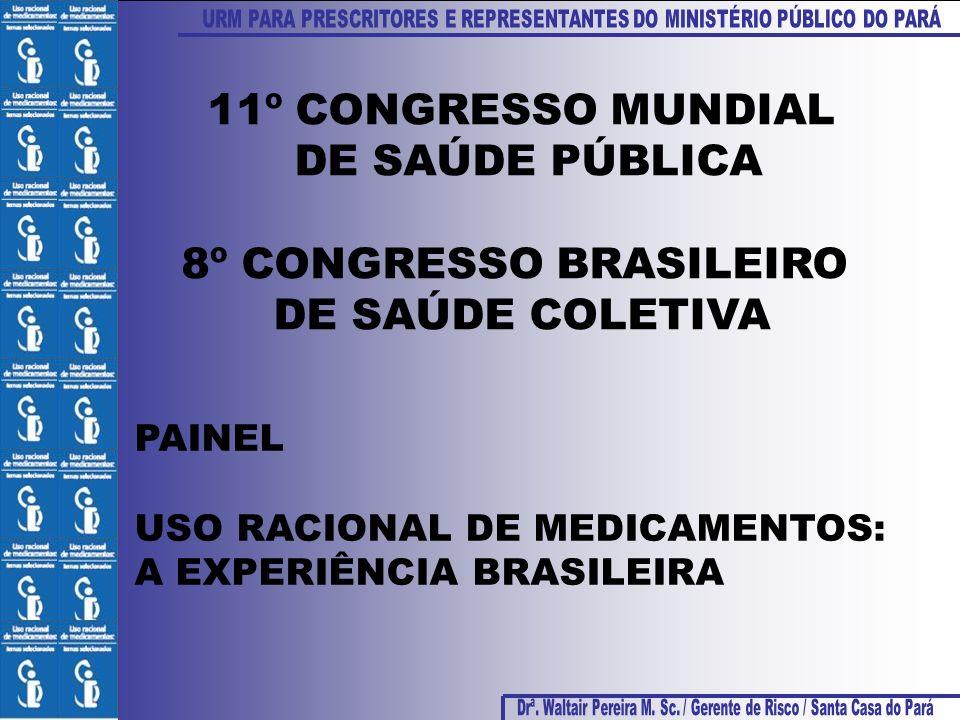 11º CONGRESSO MUNDIAL DE SAÚDE PÚBLICA 8º CONGRESSO BRASILEIRO DE SAÚDE COLETIVA PAINEL USO RACIONAL DE MEDICAMENTOS: A EXPERIÊNCIA BRASILEIRA