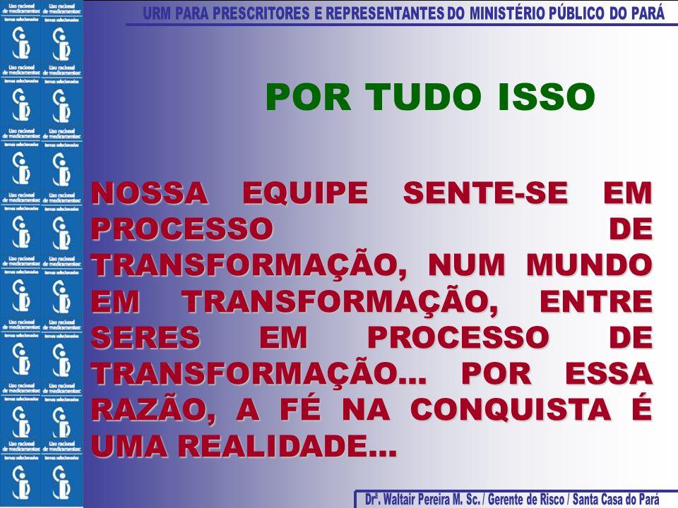 NOSSA EQUIPE SENTE-SE EM PROCESSO DE TRANSFORMAÇÃO, NUM MUNDO EM TRANSFORMAÇÃO, ENTRE SERES EM PROCESSO DE TRANSFORMAÇÃO... POR ESSA RAZÃO, A FÉ NA CO