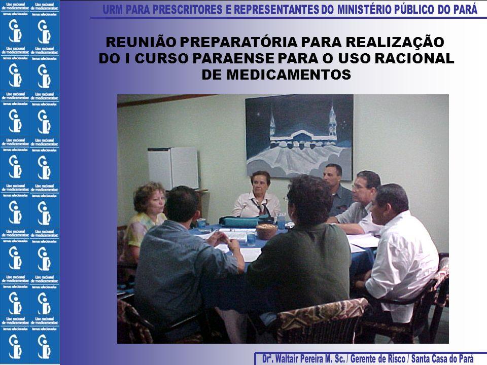 REUNIÃO PREPARATÓRIA PARA REALIZAÇÃO DO I CURSO PARAENSE PARA O USO RACIONAL DE MEDICAMENTOS