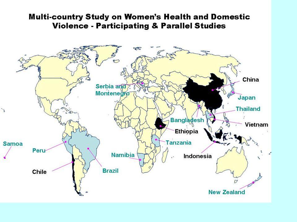 Prevalência da VPI em 15 regiões de 10 países