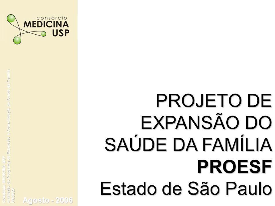 Agosto - 2006 PROJETO DE EXPANSÃO DO SAÚDE DA FAMÍLIA PROESF Estado de São Paulo