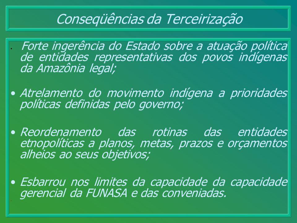 Forte ingerência do Estado sobre a atuação política de entidades representativas dos povos indígenas da Amazônia legal; Atrelamento do movimento indíg