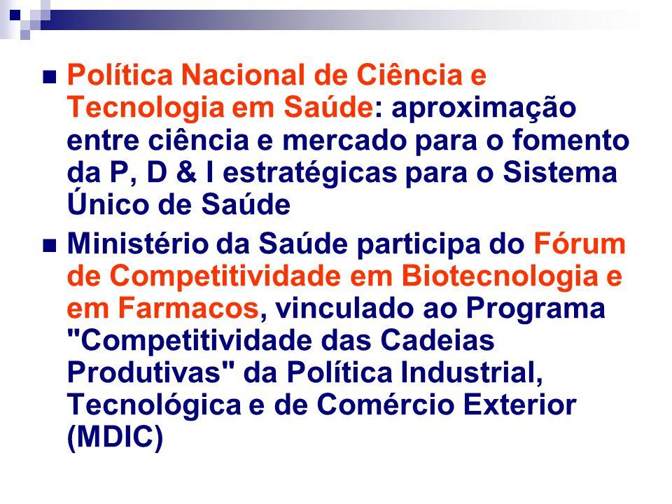 Chamada Pública Decit/Finep - 2004 Desenvolvimento Tecnológico de Vacinas - R$ 16.095.000 Estudo Multicêntrico Randomizado de Terapia Celular em Cardiopatias - R$ 13.061.000,00 Avaliar a efetividade do implante autólogo de células- tronco da medula óssea 1.200 pacientes brasileiros com cardiopatias graves