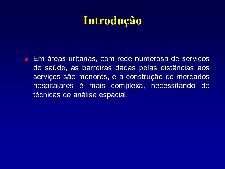 Área de atendimento internações em relação à área Mercado hospitalar internações em relação aos fraturados Taxas internações em relação à pop.